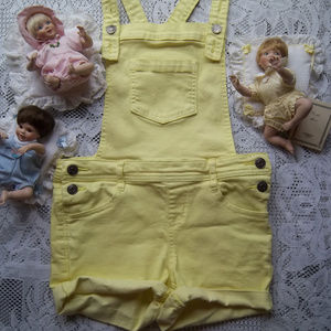 Cat & Jack Yellow Overall Shorts
